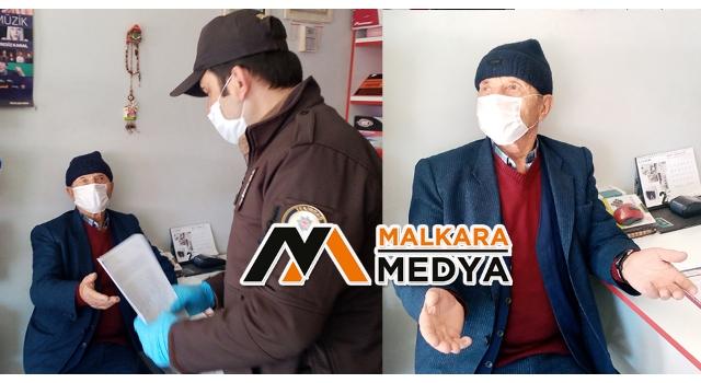 """Malkara'da 82 yaşındaki vatandaş """"BİR ŞEY OLMAZ"""" lafına bakıp sokağa çıktı, ceza kesilince pişman oldu"""