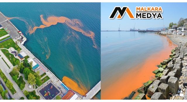 Marmara Denizi yine turuncuya büründü