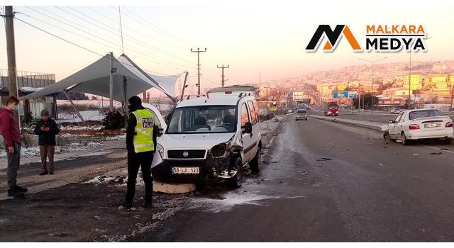 Malkara'da buzlanma kazaya neden oldu