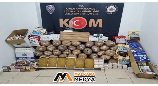 Tekirdağ'da tütün operasyonu: 9 gözaltı