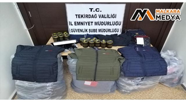 Tekirdağ'da taklit ürün operasyonu: 141 adet ürün ele geçirildi