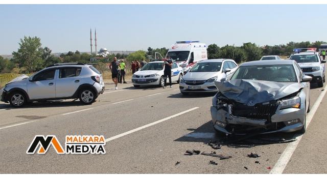 Malkara'da zincirleme kaza: 7 yaralı