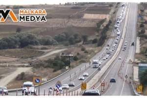 İstanbul-Çanakkale yolunda görülmedik yoğunluk