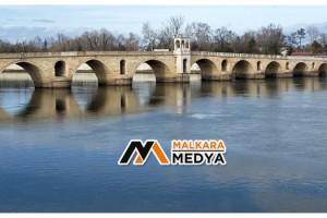 Yağışlar Meriç Nehri'nin debisini artırdı