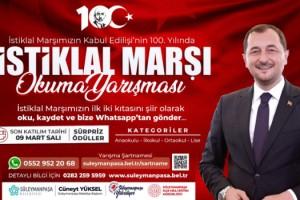 Süleymanpaşa Belediyesinden İstiklal Marşı okuma yarışması